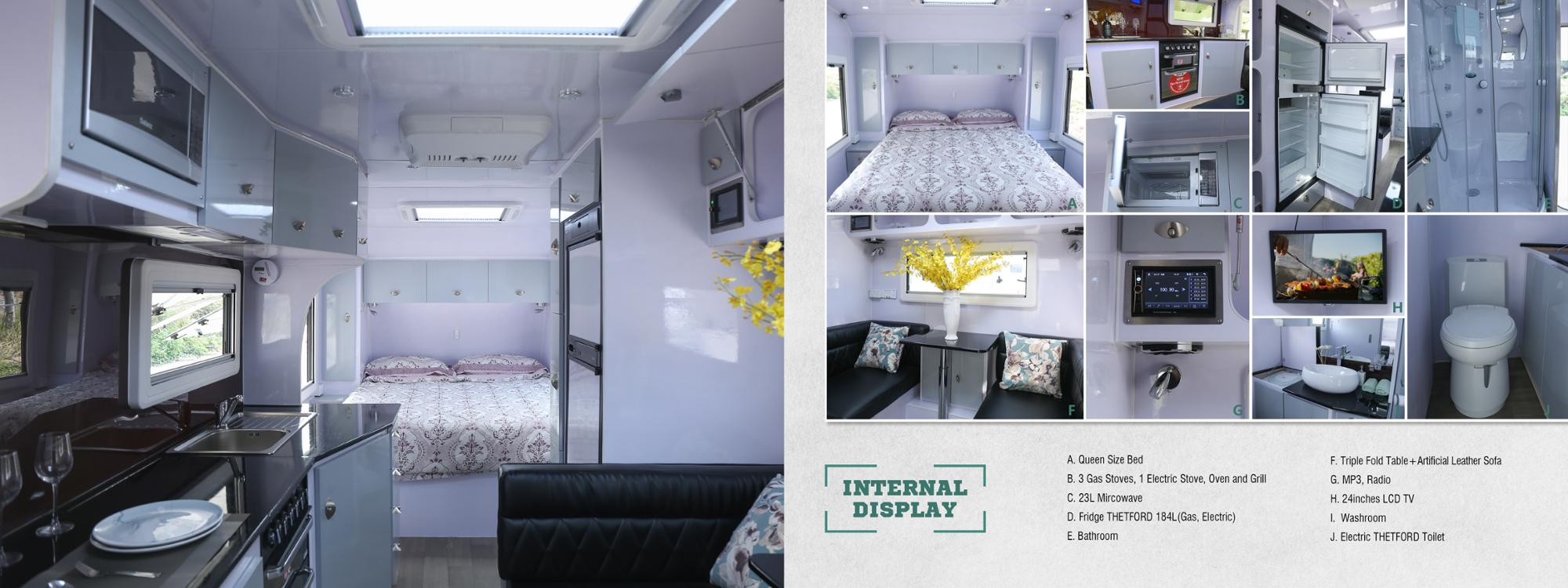 AU Standard High-end Caravan With Shower And Toilet