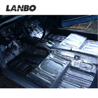 Lanbo vibration auto parts ,car mats raw material for car noise insulation ,aluminum+butyl rubber