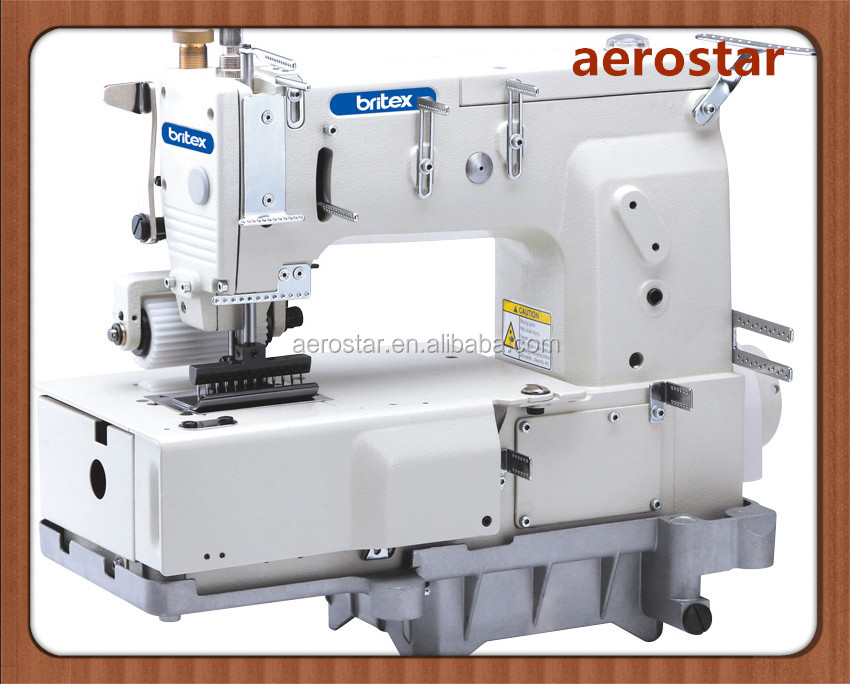 BR-1412P 12 Needle Flat-bed Double Chain Stitch Industrial Sewing Machine