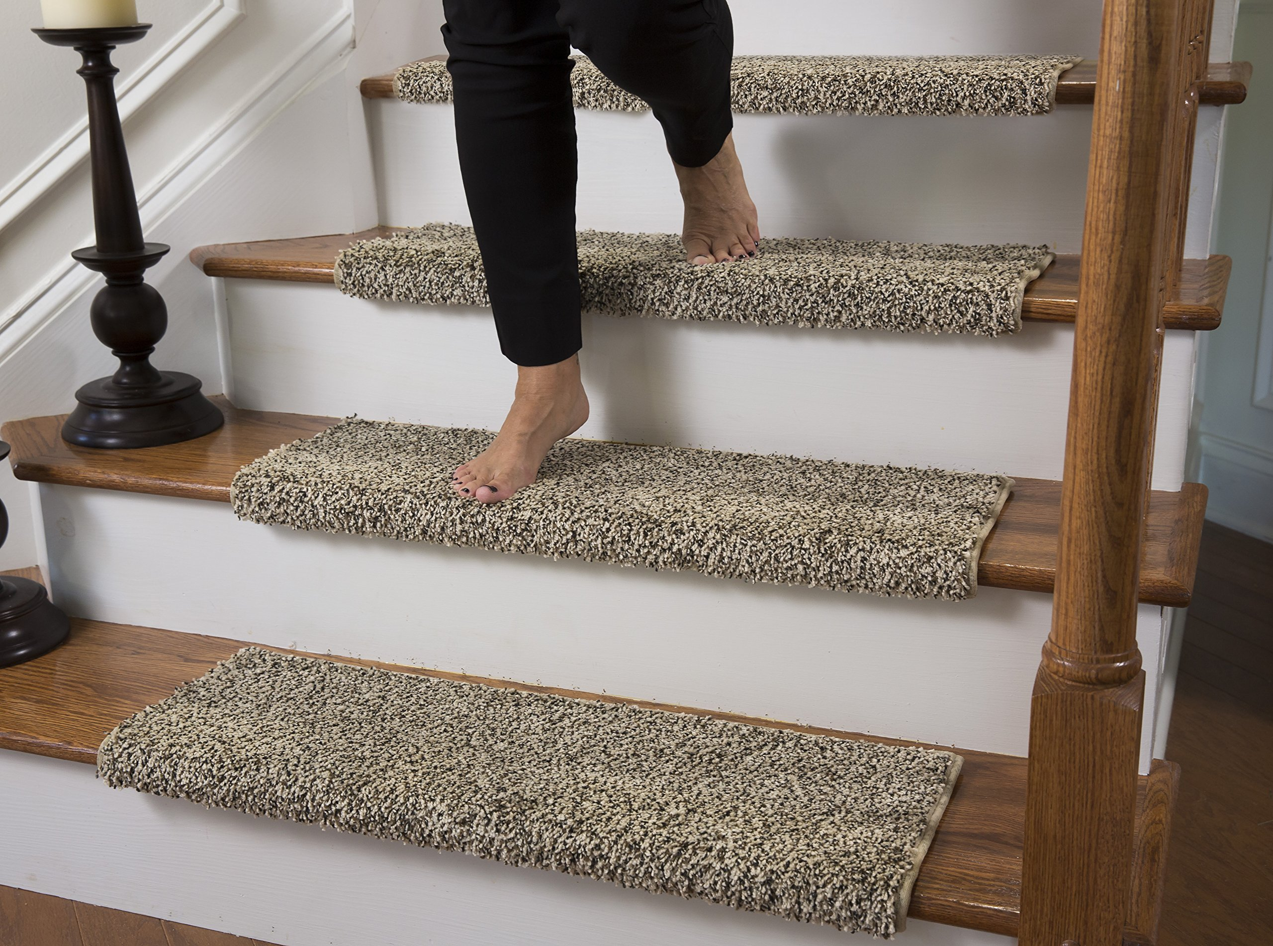 Get Quotations Tread Comfort Caprice Bullnose Carpet Stair With Adhesive Padding By Single 31