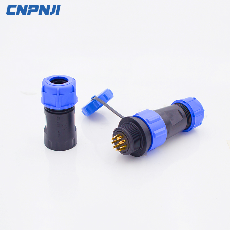 SP13 2 P - 9 P IP68 กันน้ำ connector การบิน