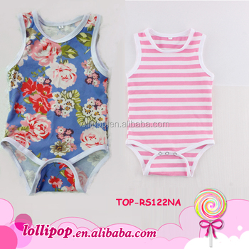 Usa Baby Clothes Dropship Newborn Cotton Kid Sleeveless Silk Printing  Rompers Grow Children Jumpsuit Stripe Onesie Tee - Buy Baby Clothes