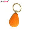 Artigifts keyring company professional custom rectangle wood keychain
