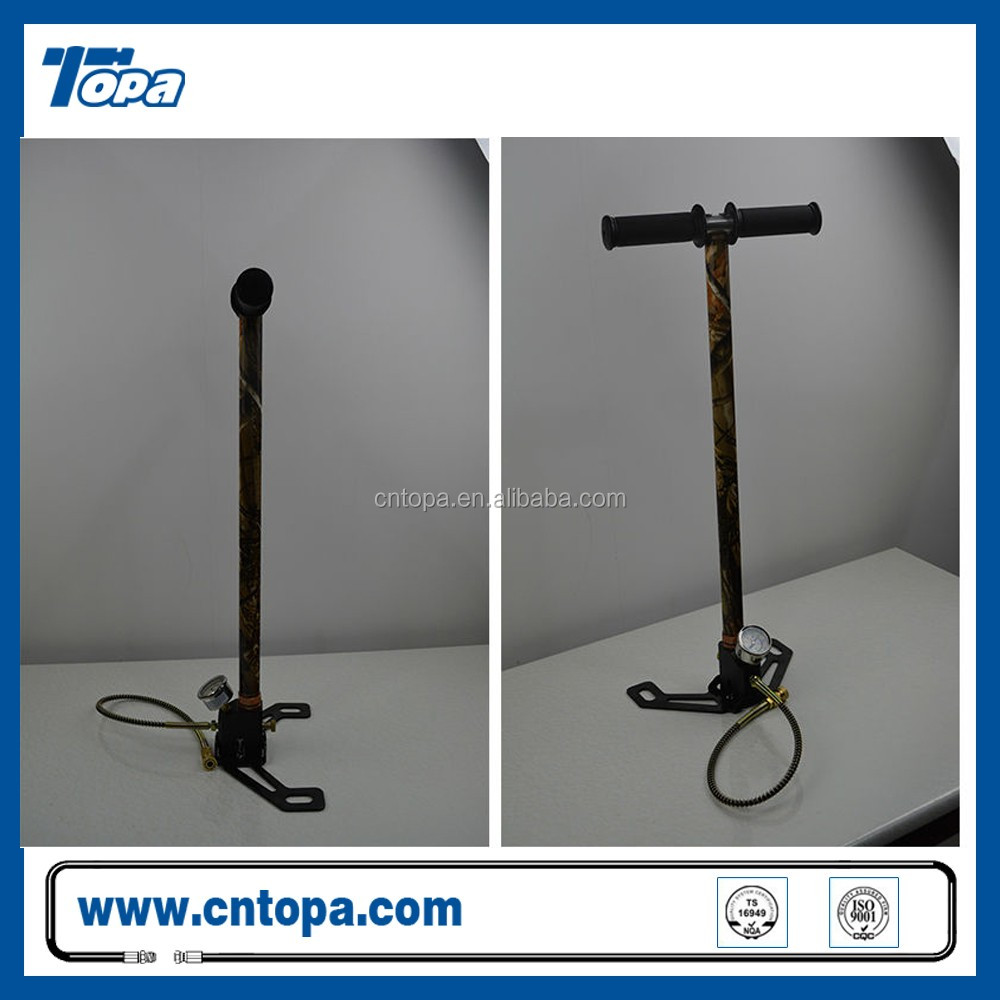 car mini spring double barrel foot hand operated pcp air pump