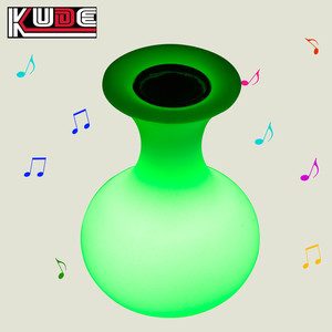Home Audio Small Decoration LED Bluetooth Speaker Romantic Music Play LED Portable PE Vase Lamp