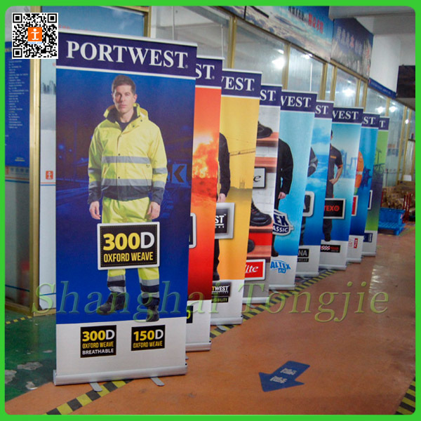 retractable banners frame Aluminum roller up banner pull up banners