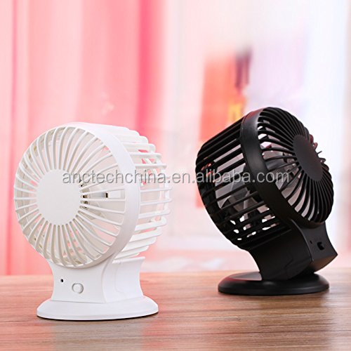 Quiet USB Mini Desktop Fan with Dual Blades Rechargeable Portable Personal Cooling Fan