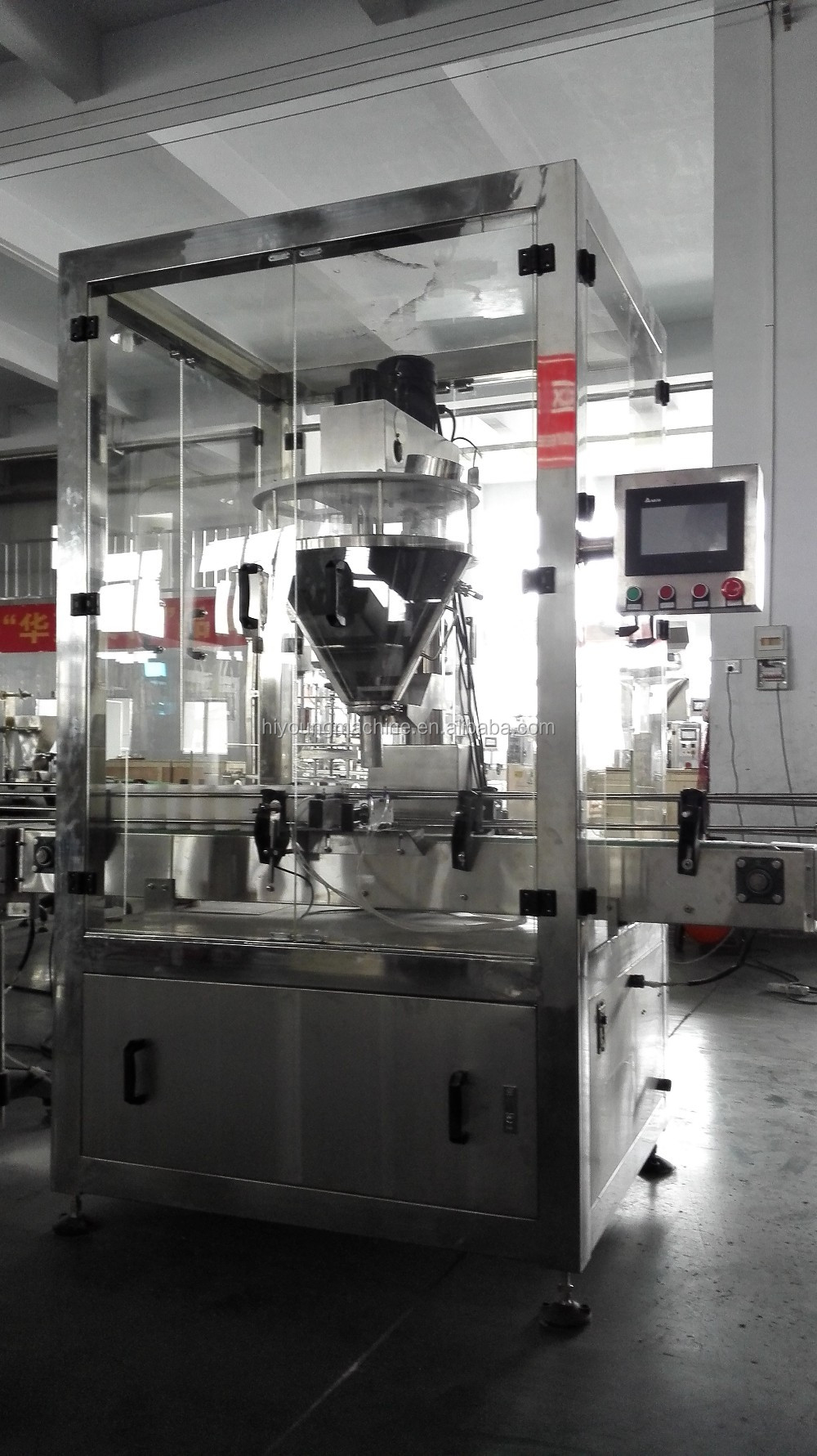 Automatic tin can bottle milk powder filling machine capping machine in factory price