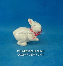 2015 ceramic Easter bunny with ribbon decoration