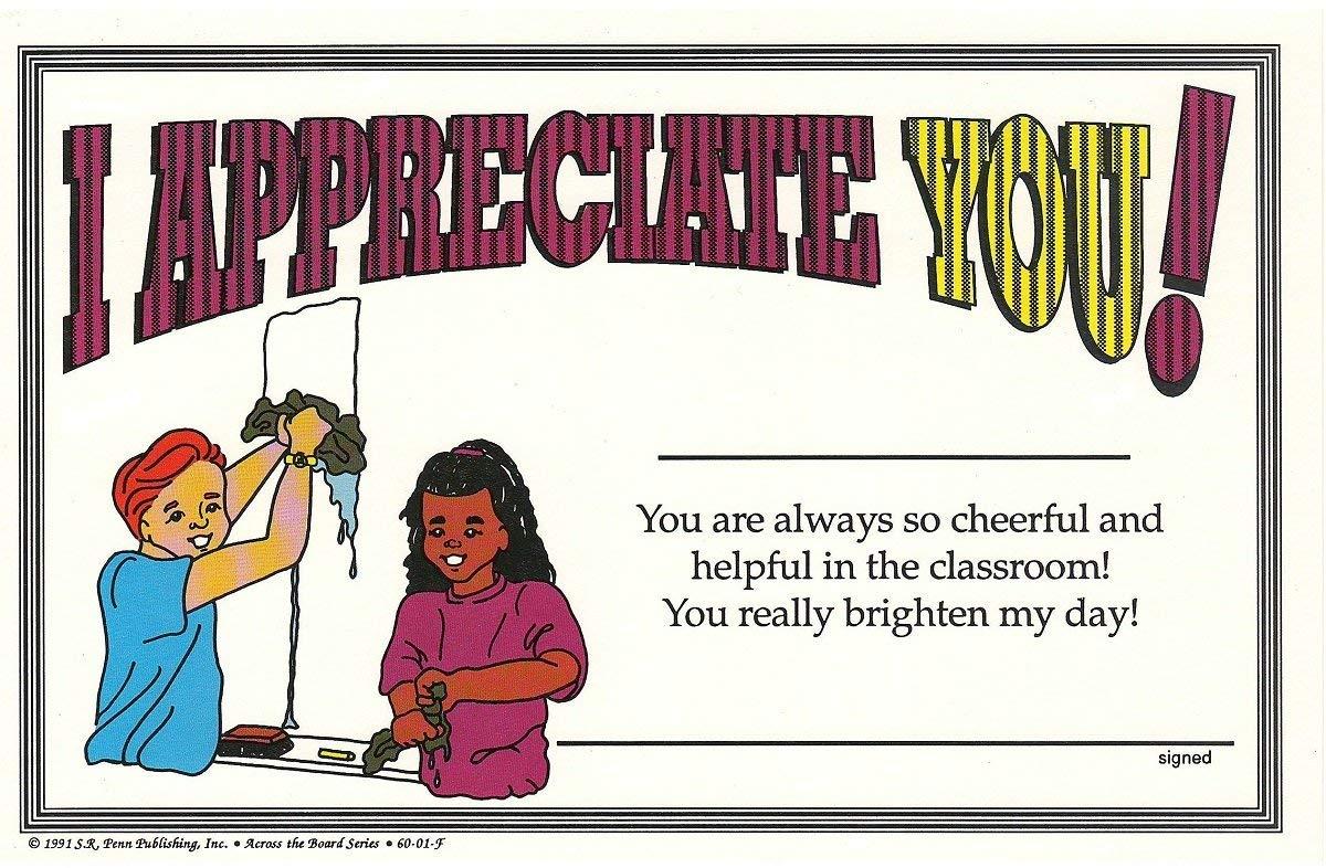 I Appreciate You Student Achievement Award Certificates