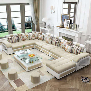 Furniture Living Room L Shape 7 Seater Sofa Set Designs