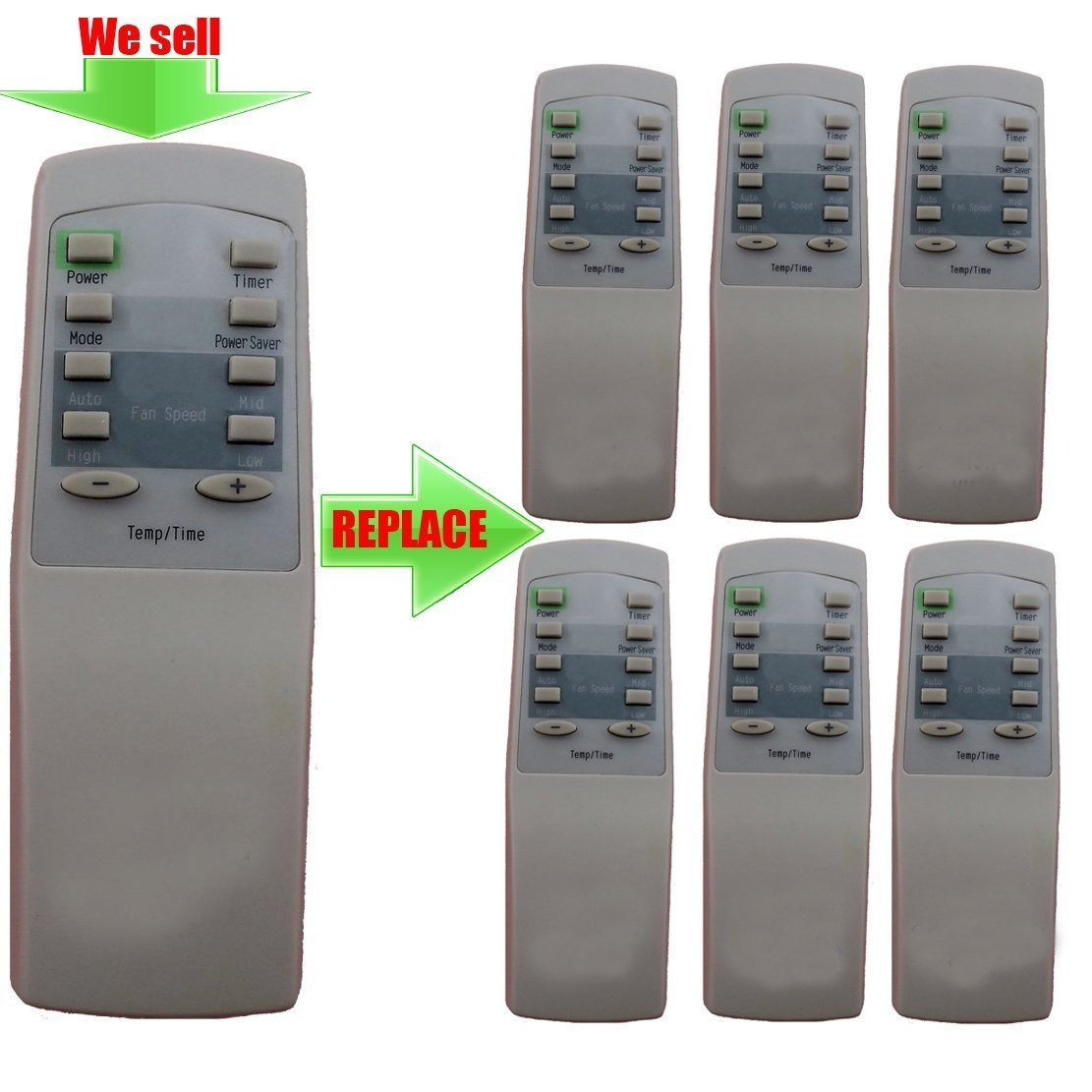 Replacement for Admiral Air Conditioner Remote Control AAW-05CR1FHU AAW-05CR1FHUE AAW-06CR1FD AAW-06CR1FHU AAW-08CR1FHU AAW-08CR1FHUE AAW-08DR1FHU AAW-10CR1FHU AAW-10CR1FHUE AAW-10DR3FHU AAW-12CR1FHU