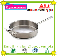 Outdoor family stainless steel cooking non stick pan