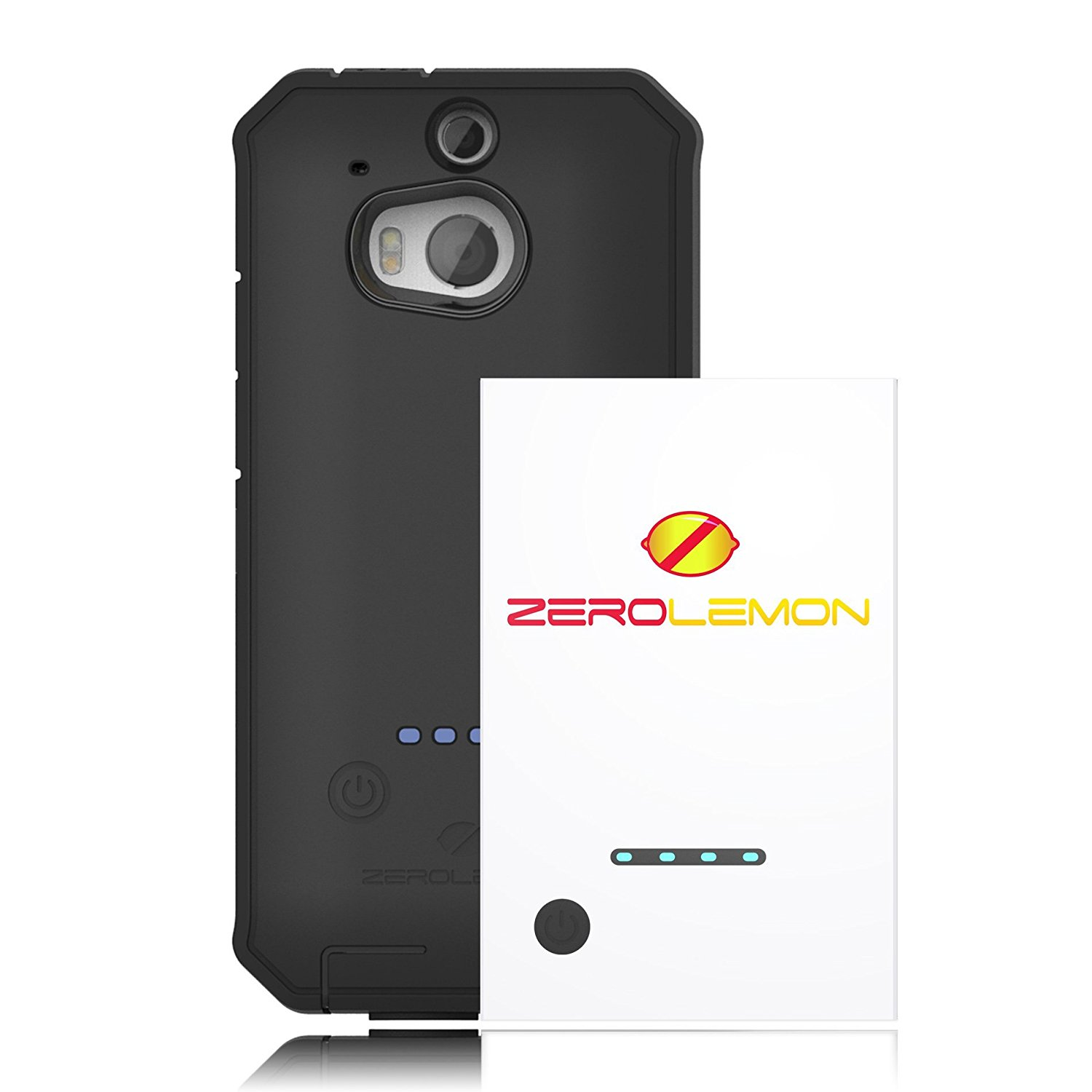 Get Quotations Zerolemon 2100 Mah Extended Battery Charging Case Combo For Htc One M8 Includes Durable Rugged