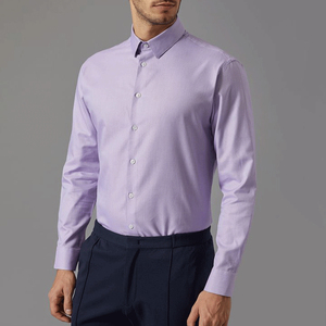 China Apparel Breathable Solid Color Clothing Formal Shirt For Men