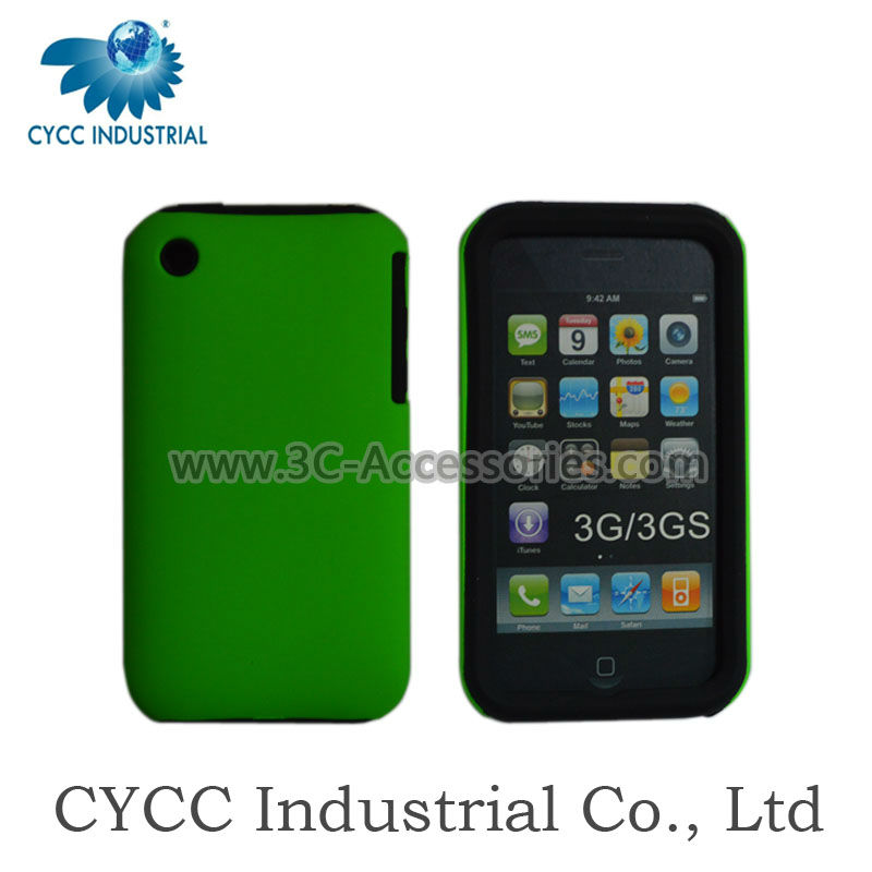 Mobile Phone 2 in 1 Silicon and Plastic Case for iPhone 3GS