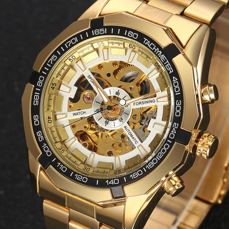 Top Brand China Supplier Watch Men Skeleton Automatic Mechanical Watches Gold Skeleton Vintage Man Wristwatch, 5 colosr are available