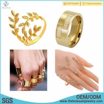 Gold Diamond Thumb Pinky Little Five Finger Rings For Men Women