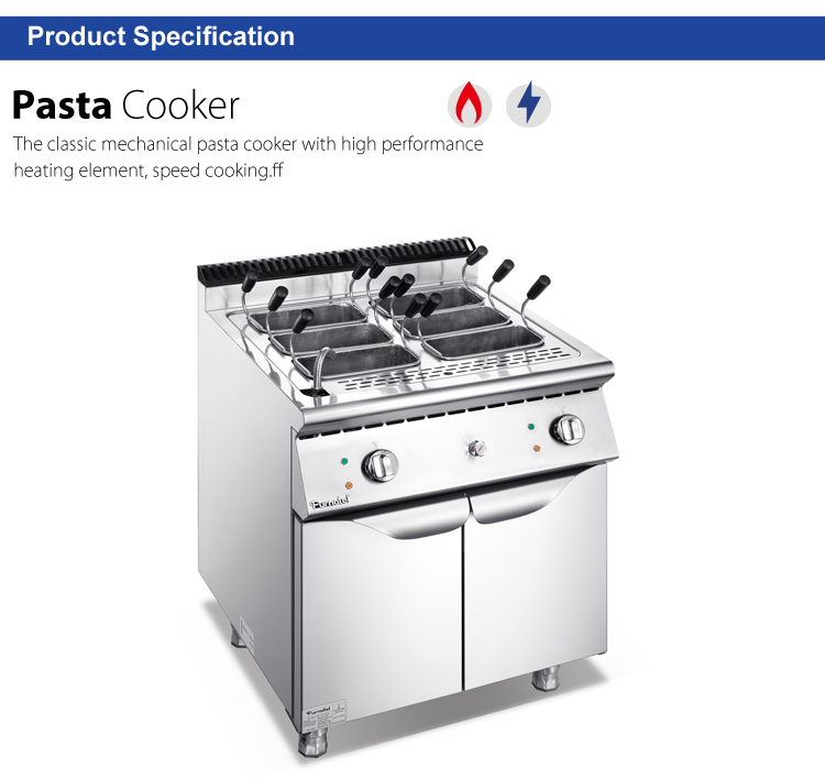 Fast Food Restaurant Use Gas With Cabinet 4 Basketspasta cooker price