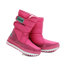 2017 New winter warm snow wedges heels knee high snow boots women