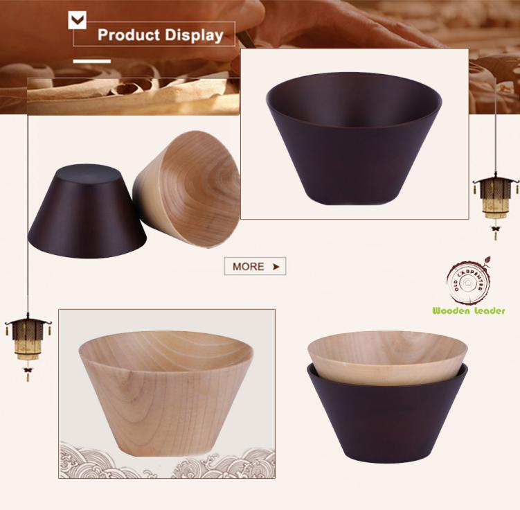 wholesale popular disposable large wooden salad bowl