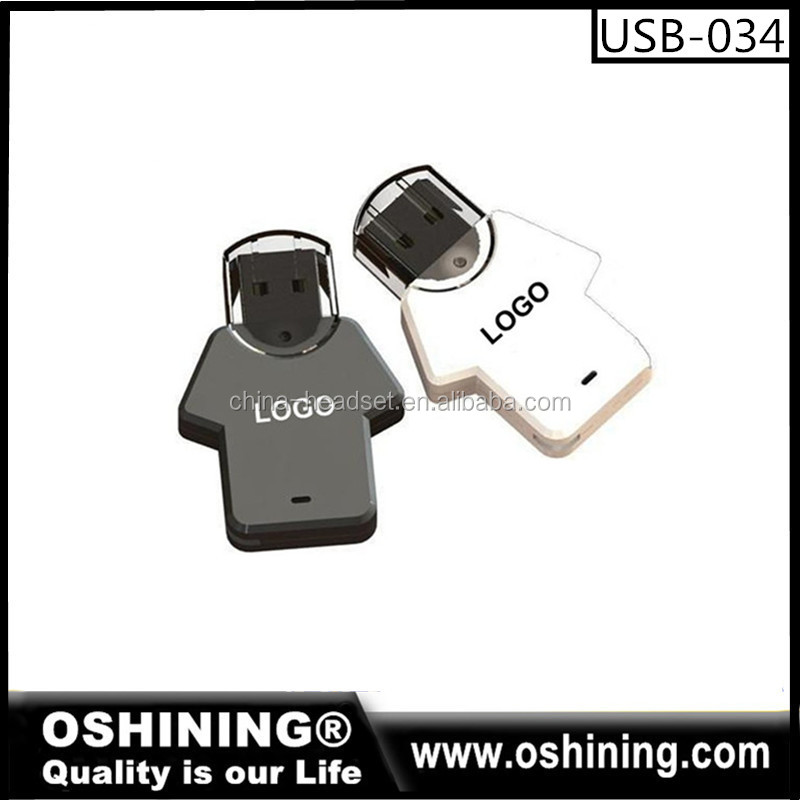 Lovely Clothes USB Plastic Card USB Flash Drive T-shirt Flash Disks Free Sample