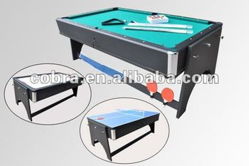 Swivel 4 In 1 Foosball Table Multi Game Tableu0026rolling Pool Game Table