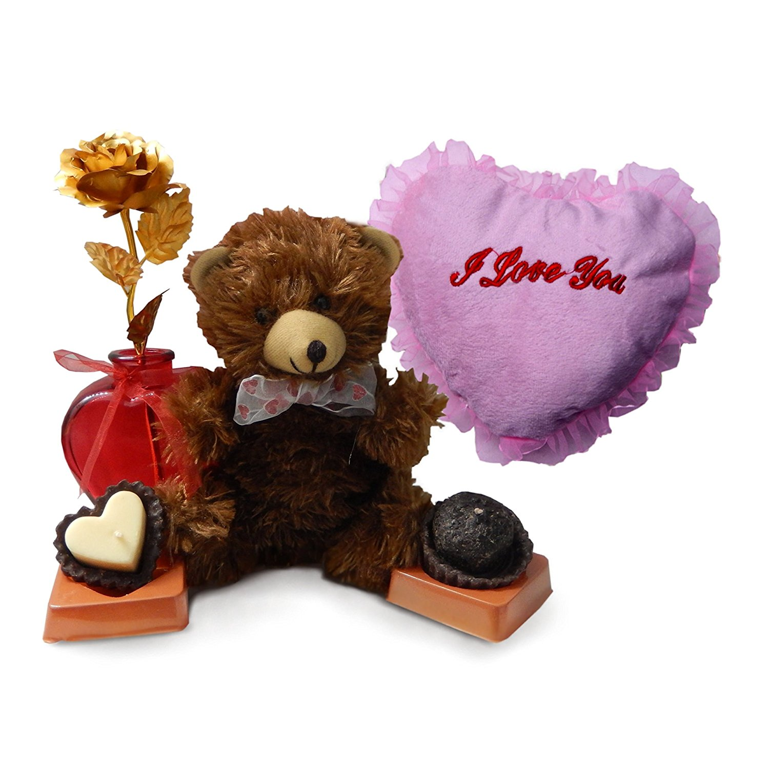 Buy Valentines Day Gifts Bundle Scented Candles 2 9 Brown Teddy