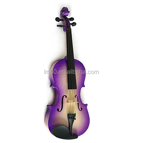 Musical Instruments 2 Pcs Student Violin White Neck Natural Ebony Fingerboard 4/4