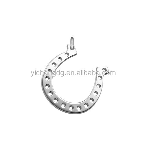 wholesale custom high quality charms for bracelet silver Plated Horseshoe Charm