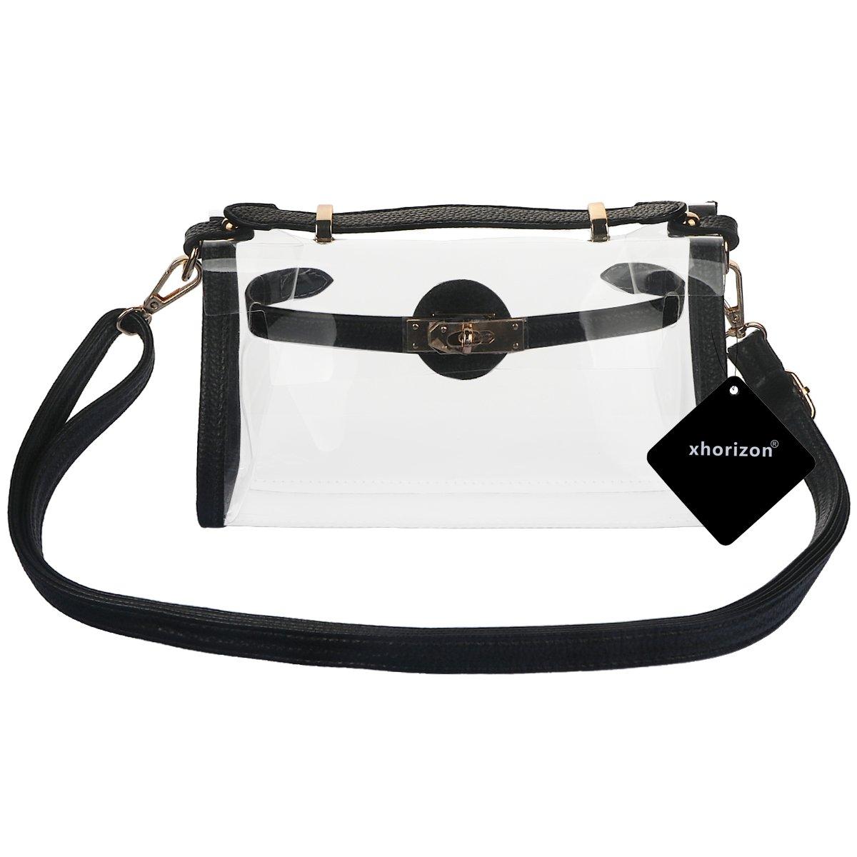 f1970b0c5e Get Quotations · xhorizon FL1 Clear Cross-Body Messenger Shoulder Bag