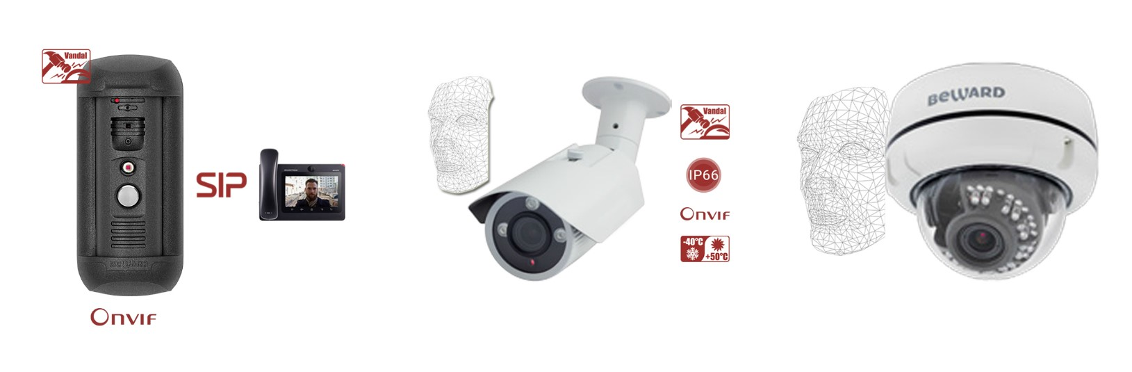 120dB WDR face access control security ai face recognition camera