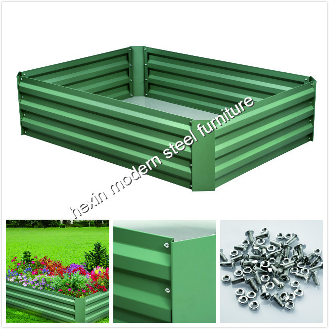 Diy Australia Green Life Galvanized Metal Garden Raised Bed Steel
