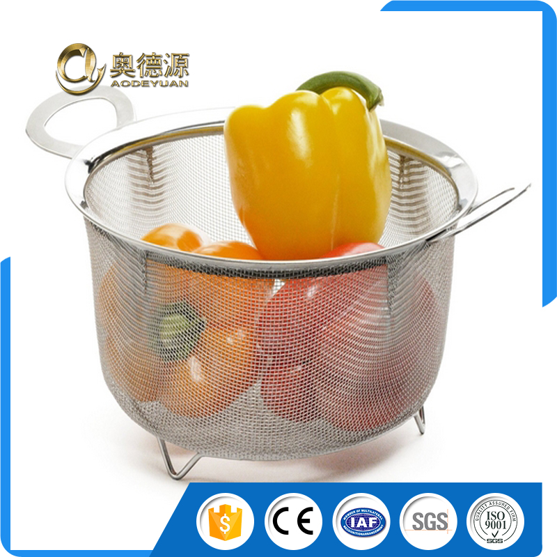 Food Grade stainless steel french fries wire mesh kitchen cooking basket