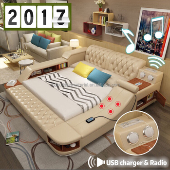 New arrival Multi functional electric massage leather bed