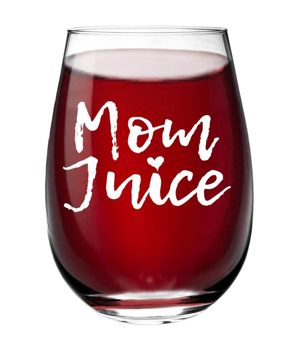 Get Quotations Mom Juice Funny Stemless Wine Glass Mothers Day Gift