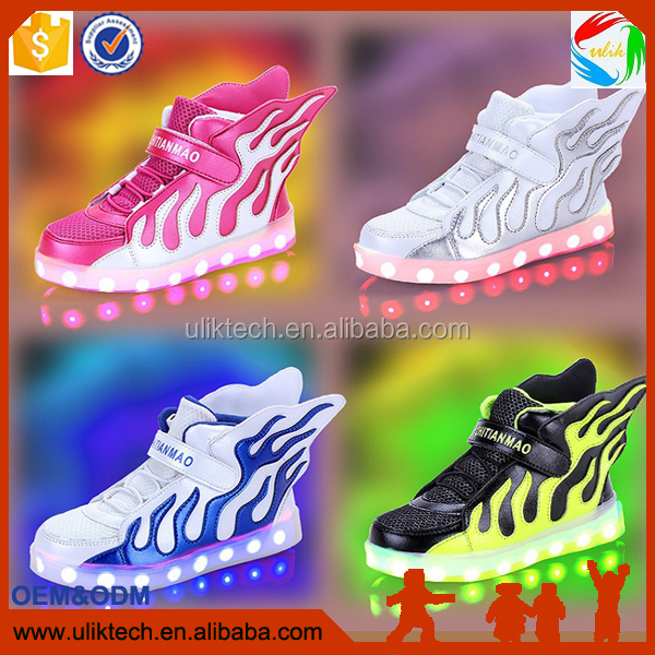 2017 kid shoe popular LED shoe hot selling in China wholesale baby shoes