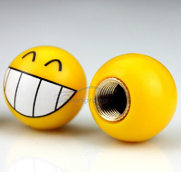 Универсальный сопло с Complacent улыбающееся лицо английский стержня колпачки автомобиль украшения четыре пакета