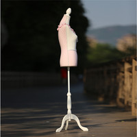 Customized pink foam/fiberglass upper body mannequin