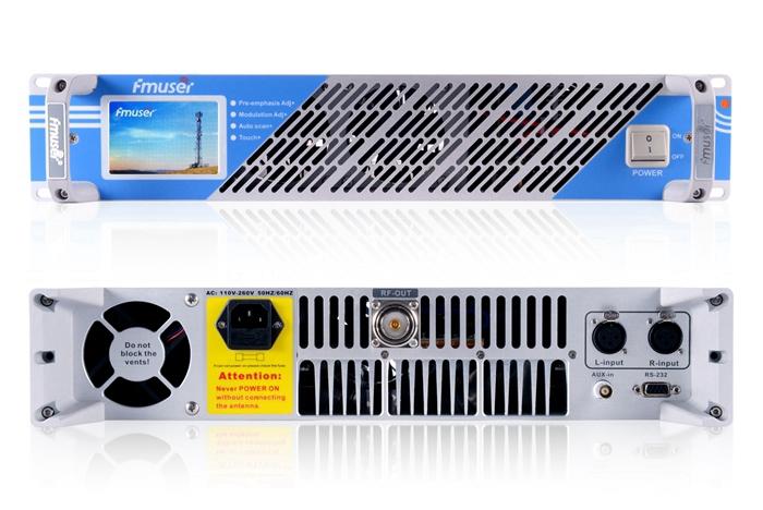 "FMUSER FSN-1000T 1000W 1KW FM Broadcast Transmitter+FU-DV2 Antenna+30m 1/2"" Cable 20km FM Transmitter For Radio Station"
