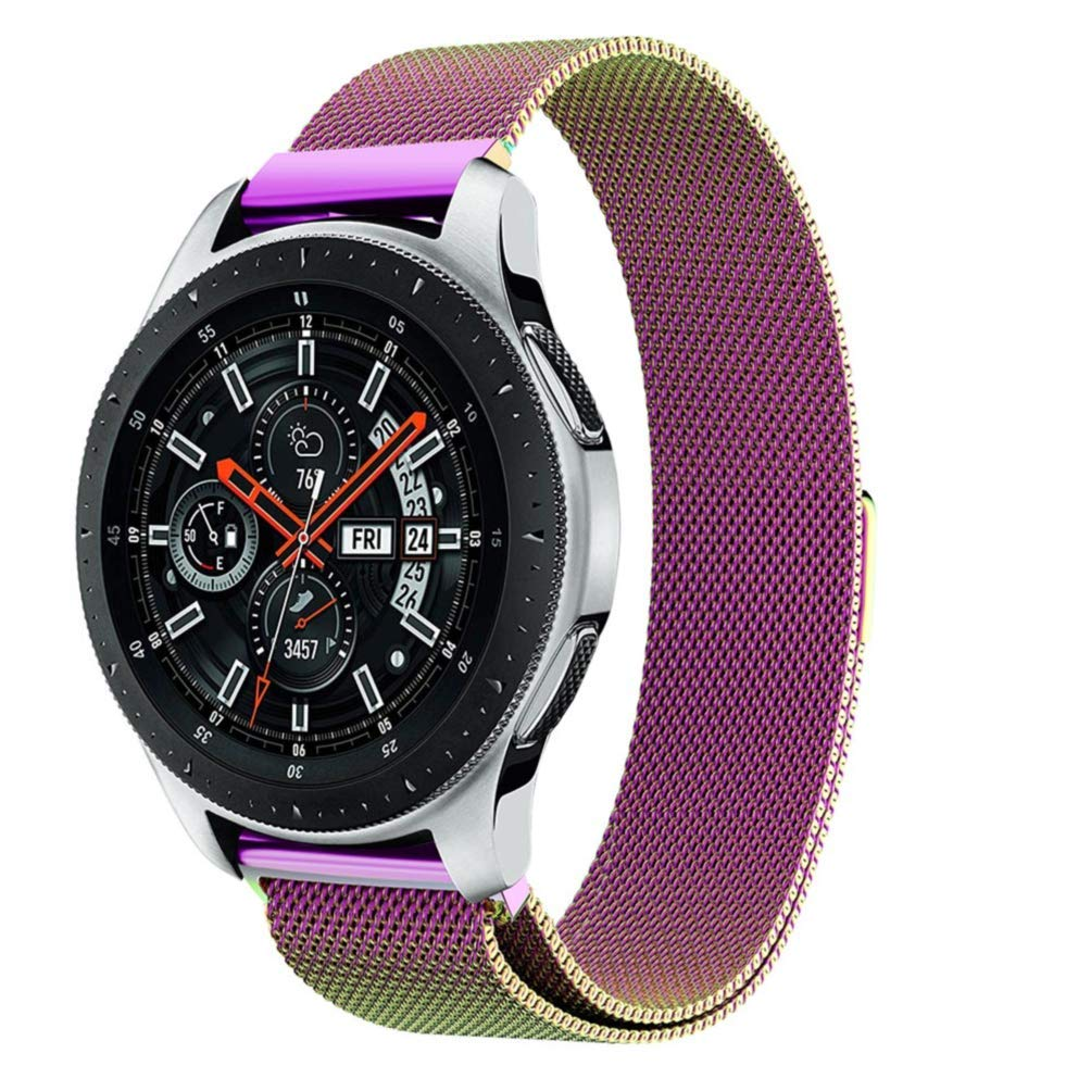 Watch Band for Samsung Galaxy Watch, MoreToys 22MM Milanese Replacement Accessory Wristband Watchband for Samsung Galaxy Watch 46MM Version (Rainbow)