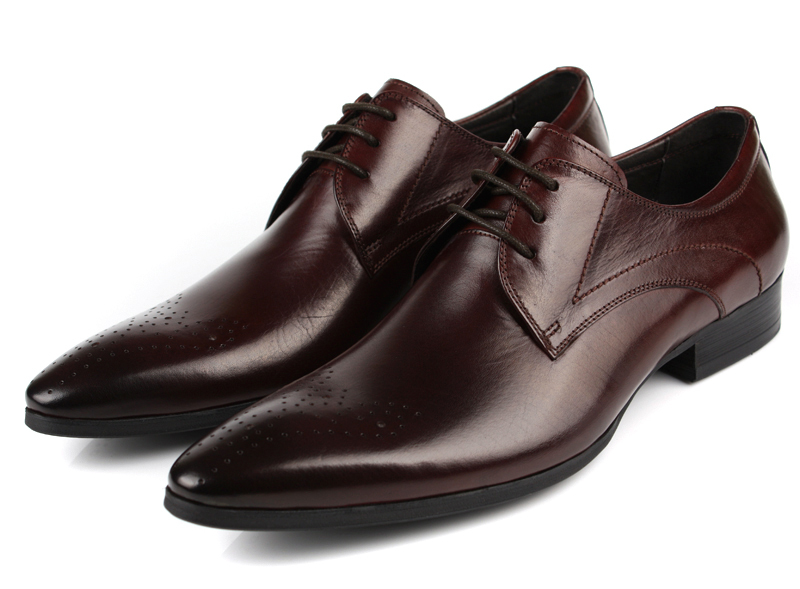 570c1eb7471a3 Get Quotations · Black   brown brogue shoes fashion mens wedding dress  shoes genuine leather business shoes mens pointed