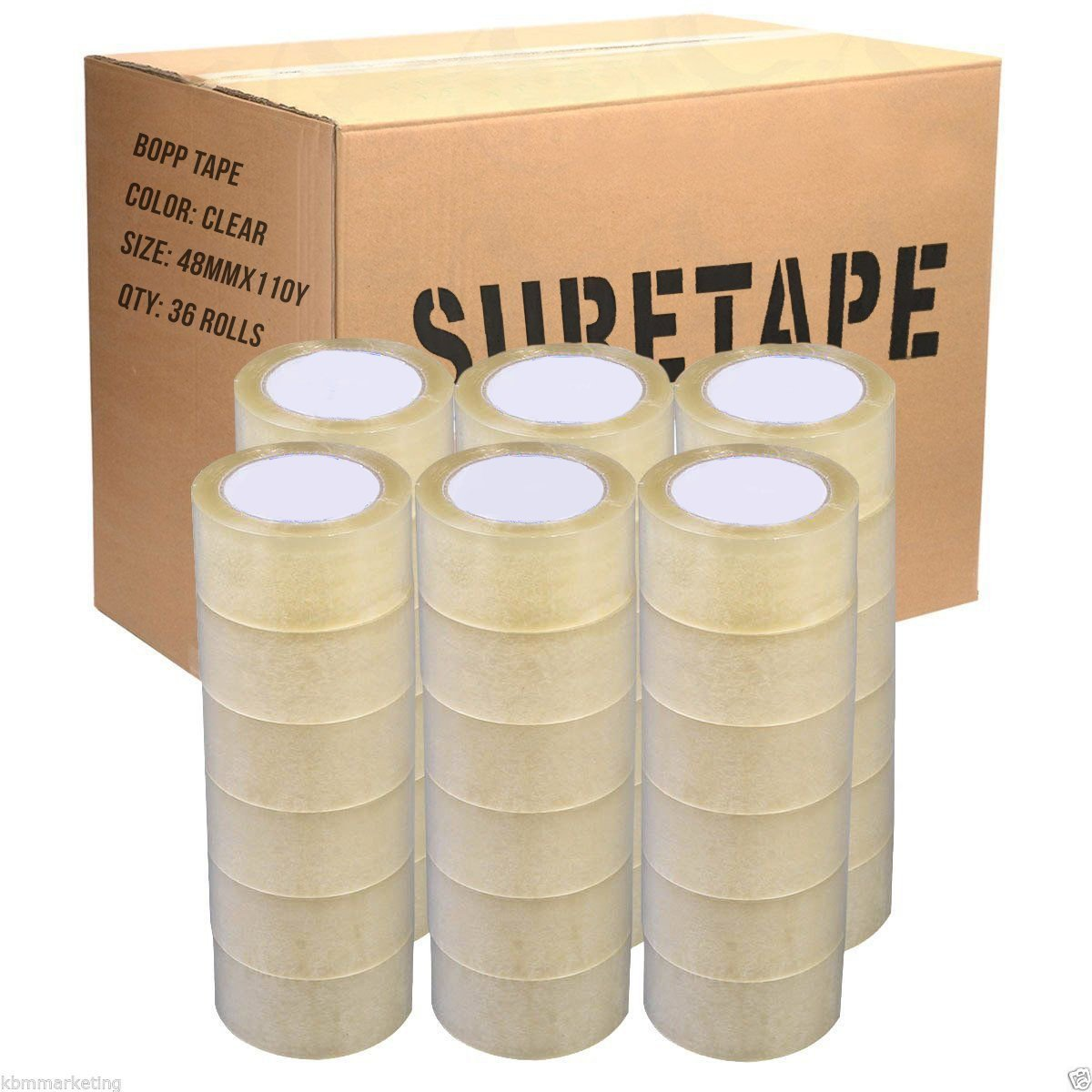 """36 Rolls 2/"""" Clear Tapes 110 yard 330 ft Clear Packing Tape Carton Sealing Box"""