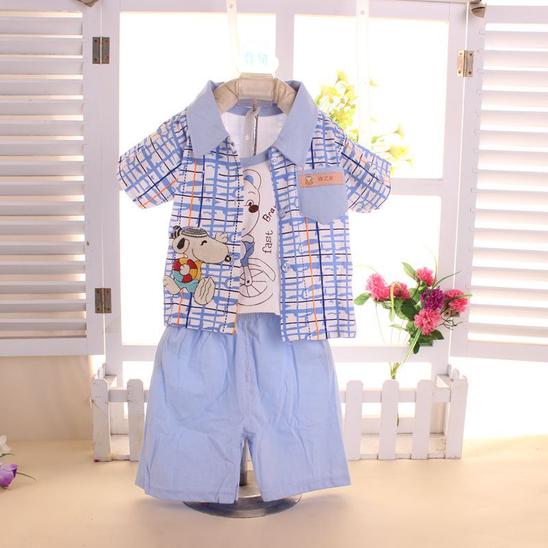 Baby Boy Clothes Summer 2016 New Cartoon Baby Boy Clothing Set Children Boys Clothes 3pcs Newborn Baby Clothing Infant Clothes