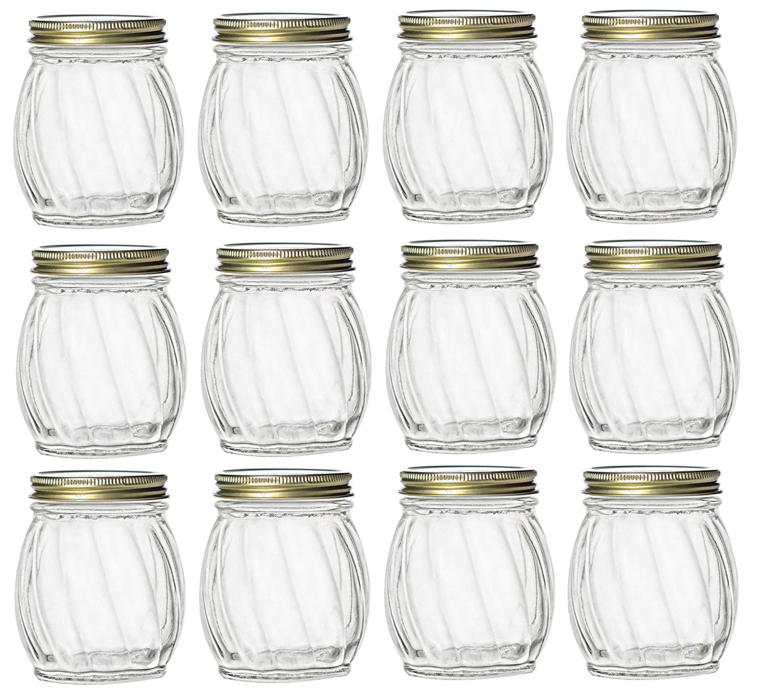 e3693fbe8cf0 Buy Nakpunar 12 pcs Glass Spice Jars with Shaker Sifter and ...