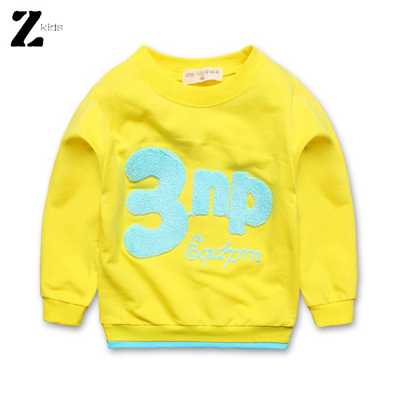 Hot Sale Cotton Long Sleeve Children T Shirts Girls Boys Unisex Tops Casual Letter Print Kids Clothing Spring Autumn Fall 2015