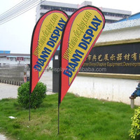 2015 Advertising Sublimation Digital Printing Feather Flags 100% polyester outdoor or indoor beach flag with poles