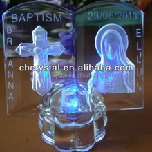 MH-L0308 Personalized crystal christening bomboniere crystal baptism souvenirs
