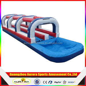 lane giant inflatable water slide for adult,tropical inflatable big water slide with pool slip n slide