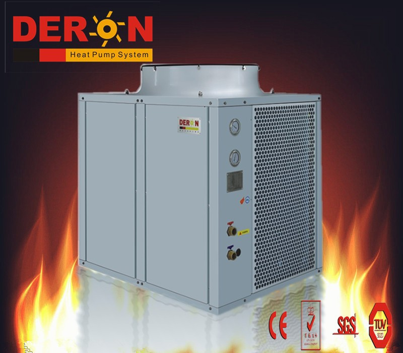 China deron air source high temperature heat pump water heater gas water heater for hot water(max out warer temp 80C)